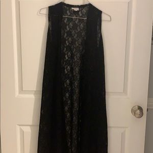 Lularoe XS Joy Black Lace